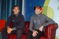 Philippe Gilbert et Cadel Evans complices dans leur fauteuil