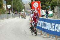 Joaquim Rodriguez tente de résister au petit peloton dans le dernier kilomètre