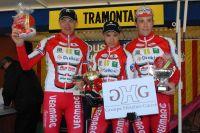 Benoît Daeninck, Jimmy Turgis et Alexandre Defretin sur le podium de la Tramontane