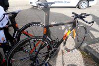 KTM et son vélo CLM de l'équipe Bretagne-Schuller est équipé du Di2