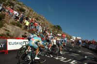 Les pentes menant au Mirador de Ezaro sont insupportables pour les coureurs