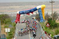 Le peloton de la Vuelta dans la Navarre