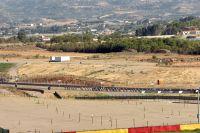 Le peloton du Tour d'Espagne sur un circuit de moto