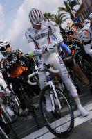 Yohan Cauquil du team La Pomme Marseille au départ de la 3ème étape du Tour Med 2012