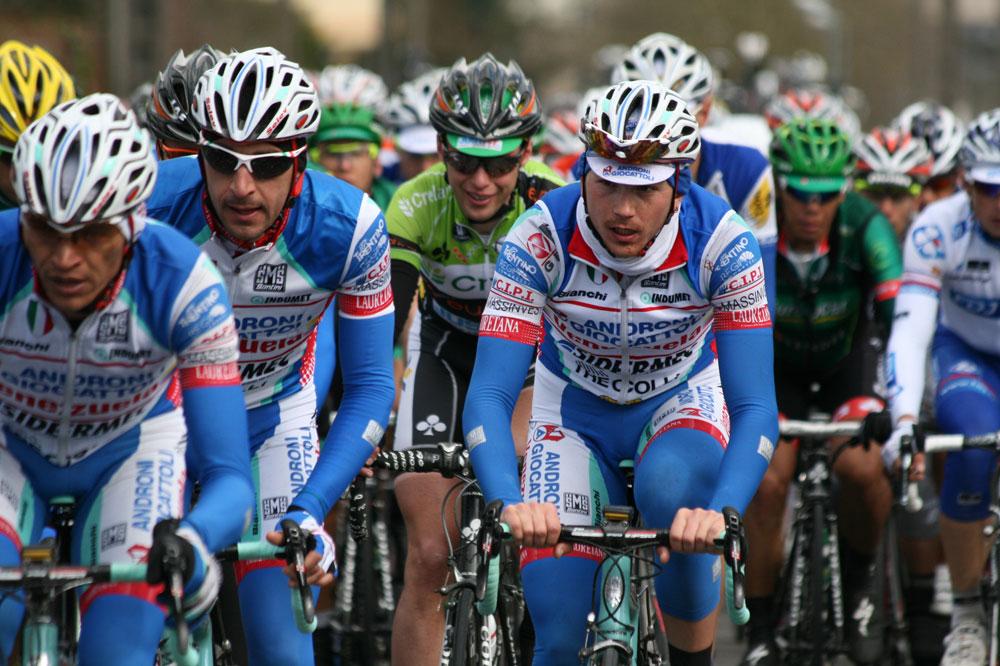 Les coureurs de l'équipe Androni Giocattoli