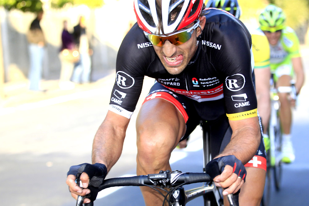 Fabian Cancellara en plein effort