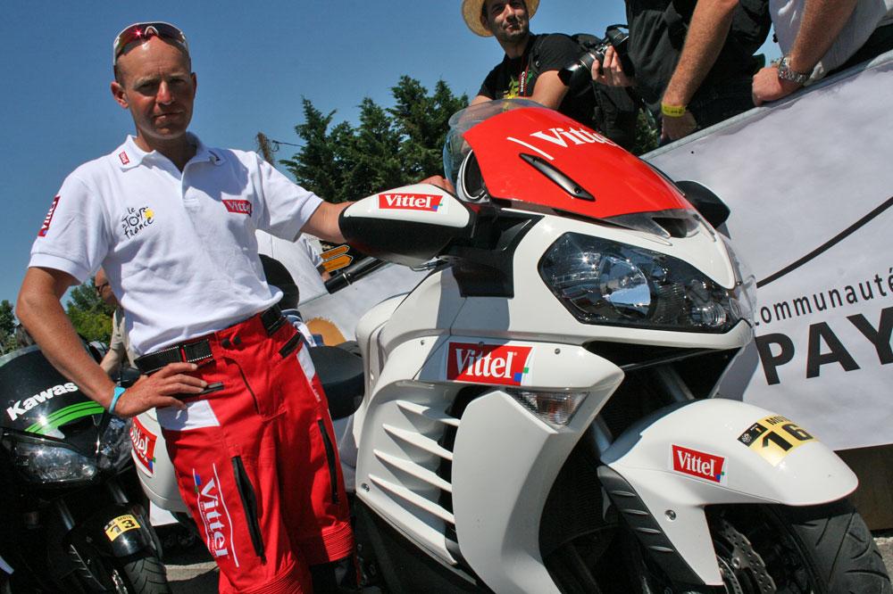 Christophe Sekula et sa moto fraîcheur