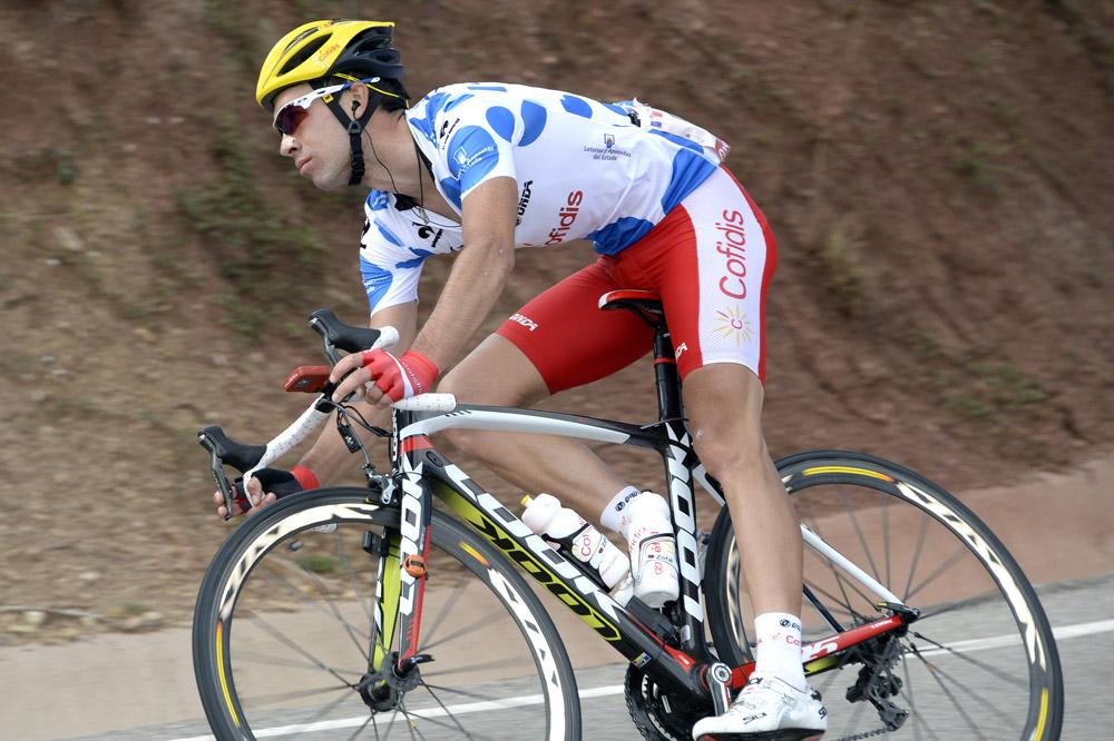 Nicolas Edet porte le maillot du meilleur grimpeur