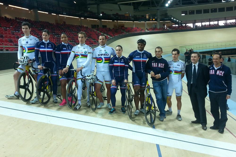 L'équipe de France sur piste a découvert le vélodrome de Saint-Quentin-en-Yvelines