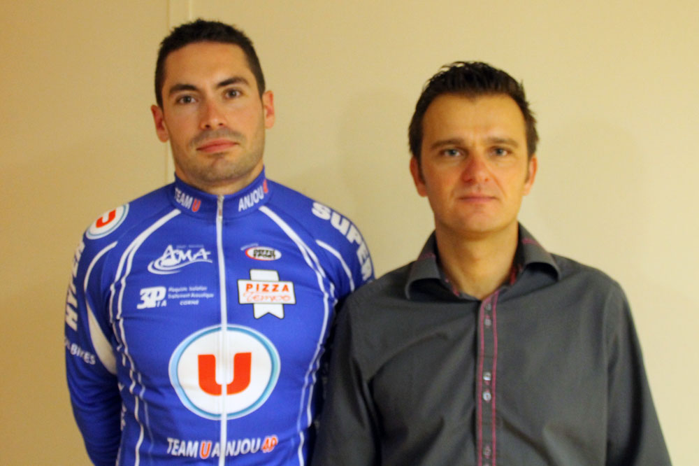 Etienne Pieret aux côtés du président du Team U Anjou 49 Arnaud Trost