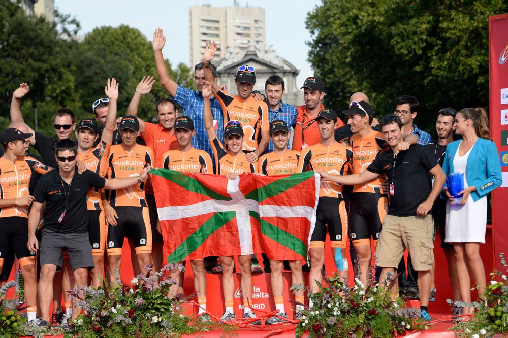 L'équipe Euskaltel-Euskadi remporte le classement par équipes de la Vuelta