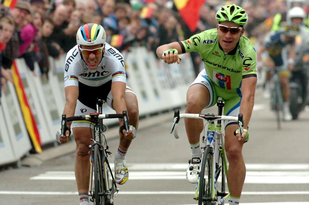 Peter Sagan gagne son duel face à Philippe Gilbert dans la Flèche Brabançonne