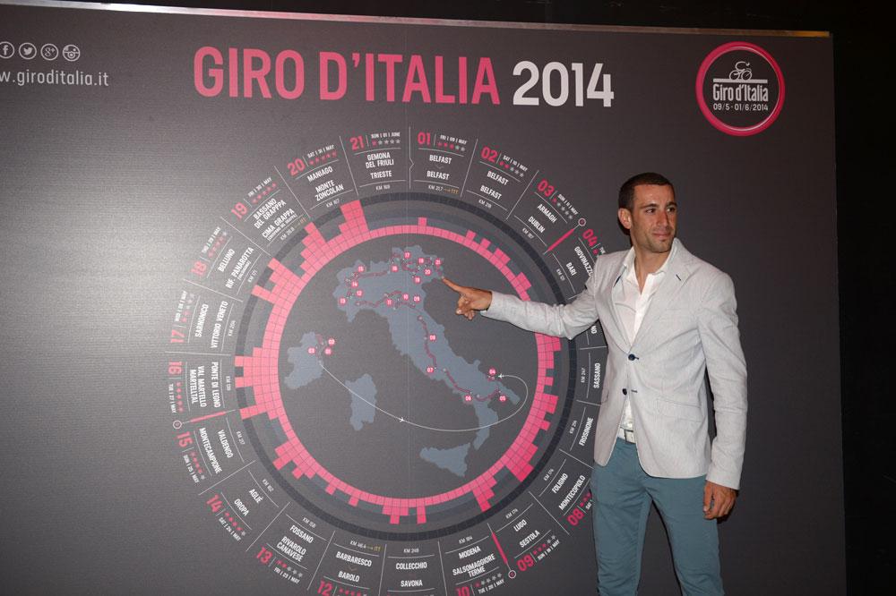 Vincenzo Nibali dévoile le parcours du Giro 2014