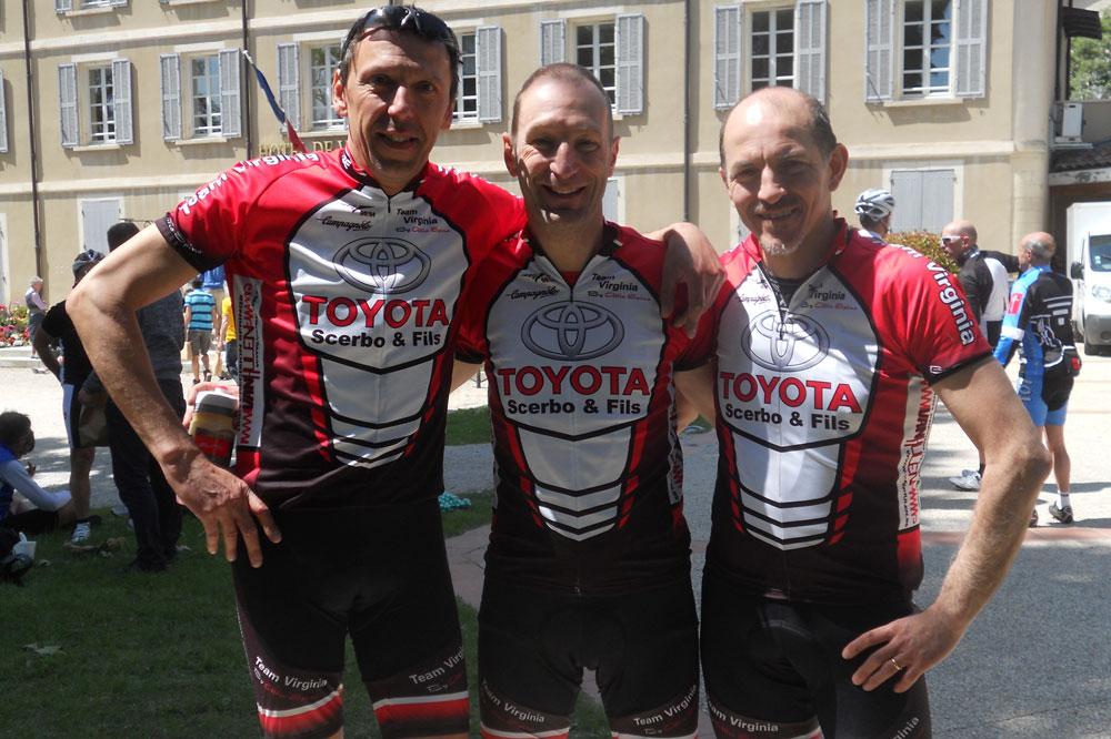 Jean-François Franquet et ses collègues du Team Virginia