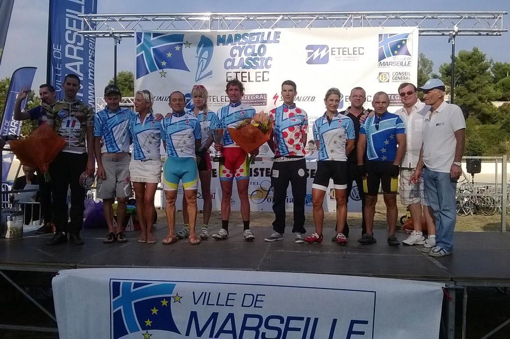 Le podium de la Marseille Cyclo Classic