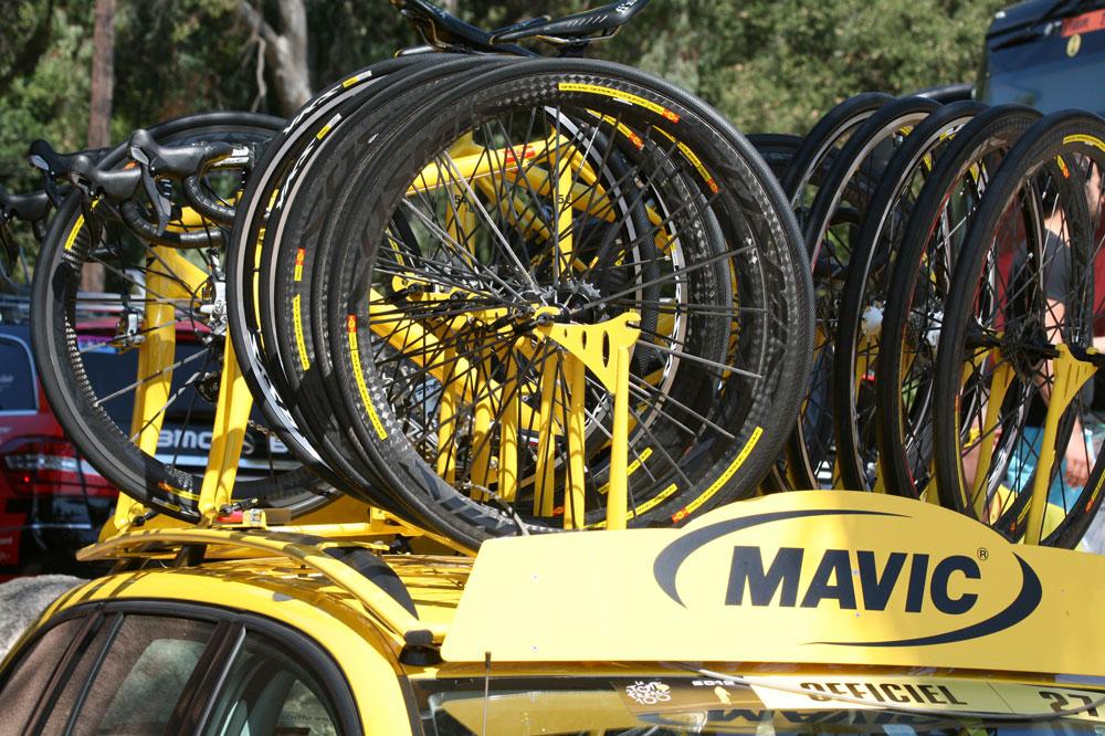 L'assistance Mavic sur le Tour de France