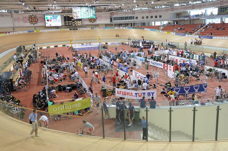 Le vélodrome de Minsk, théâtre des Championnats du Monde 2013