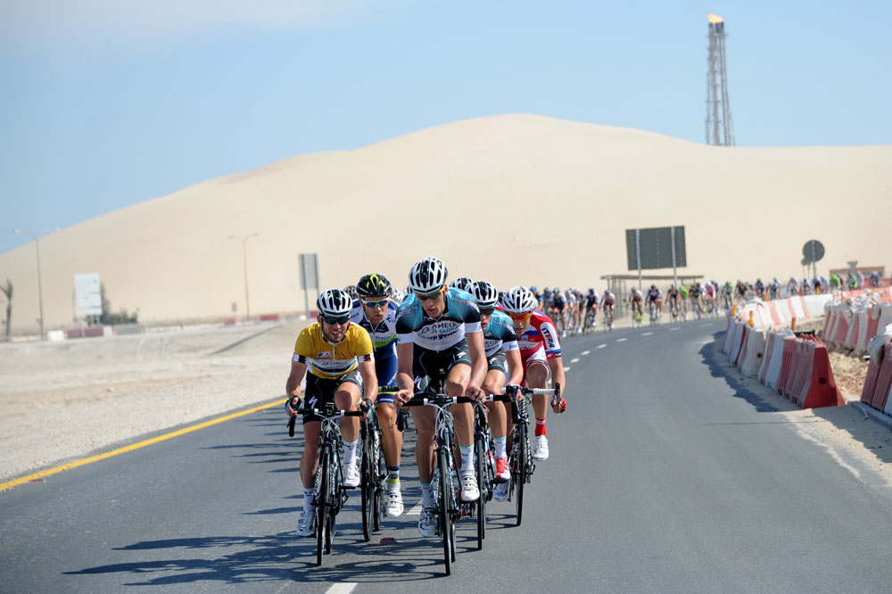 L'équipe Omega Pharma-Quick Step protège Mark Cavendish au Qatar