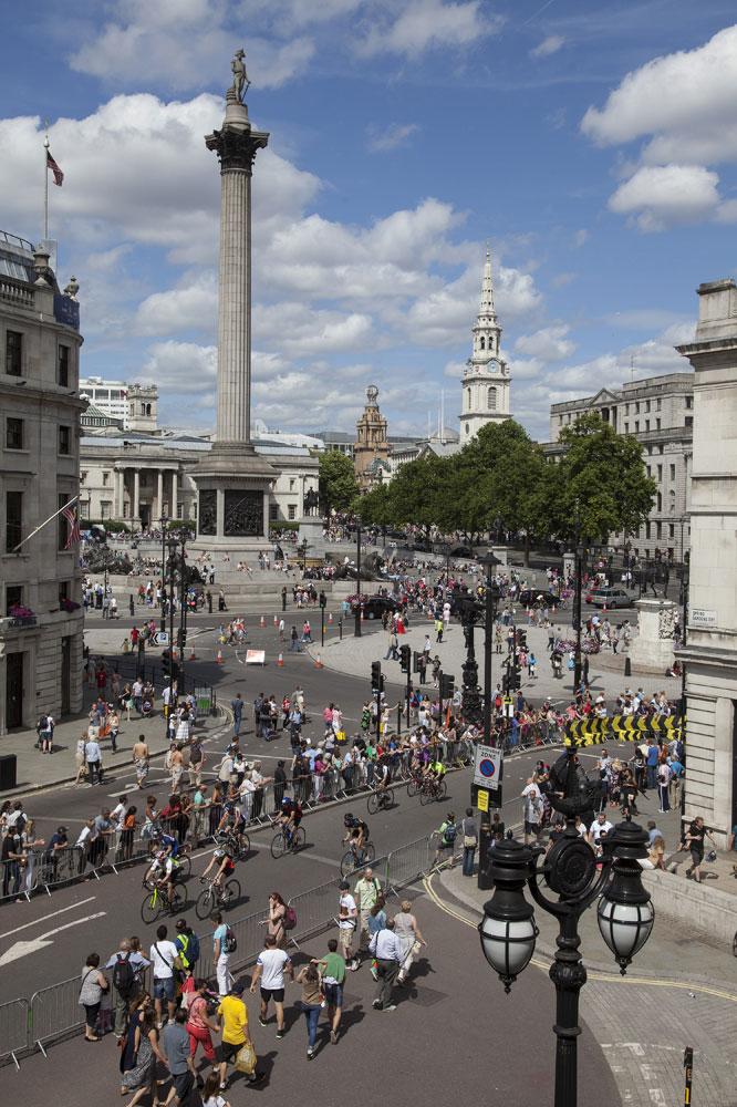 Trafalgar Square accueille RideLondon