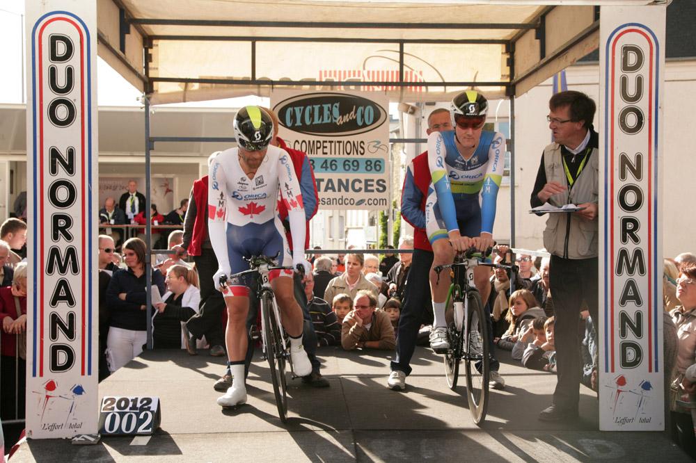 Svein Tuft et Luke Durbridge, vainqueurs de l'édition 2012 du Duo Normand
