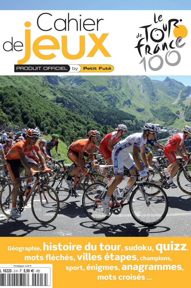La couverture du cahier de jeux spécial Tour de France