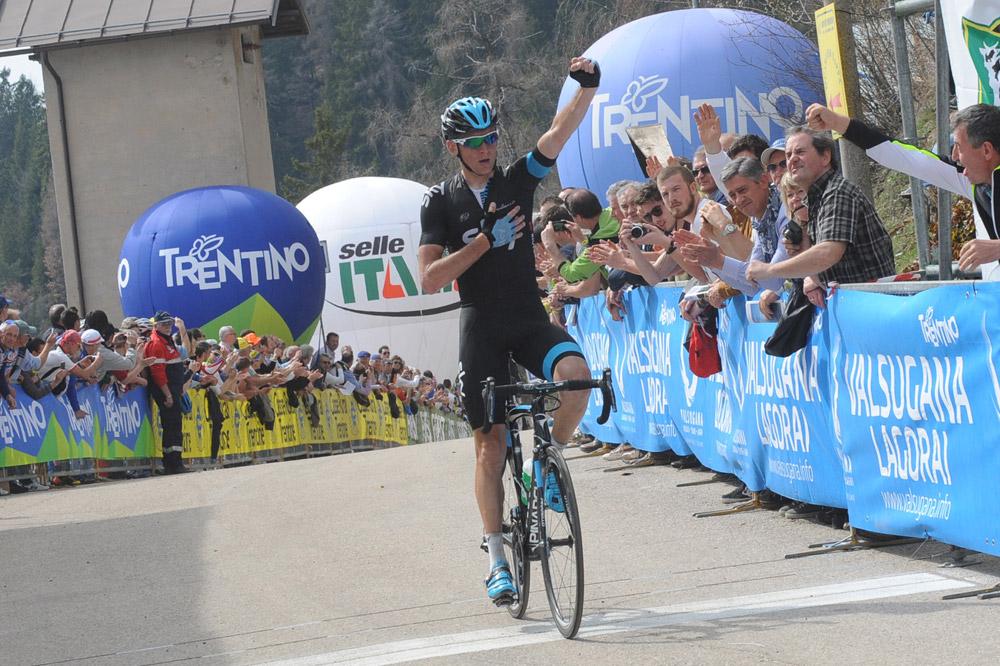 Konstantin Siutsou remporte l'étape au sommet de Vetriolo Terme