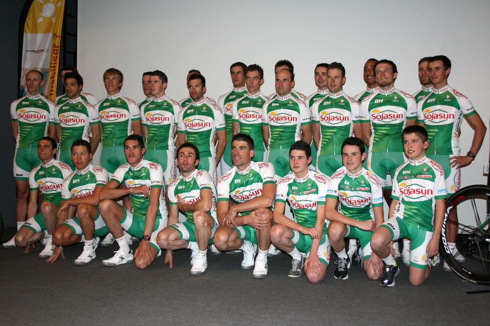 L'équipe Sojasun parée pour 2013