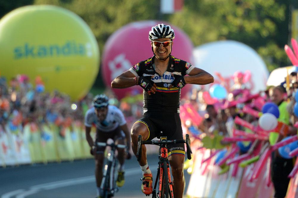 Darwin Atapuma tient son étape, Christophe Riblon le maillot jaune