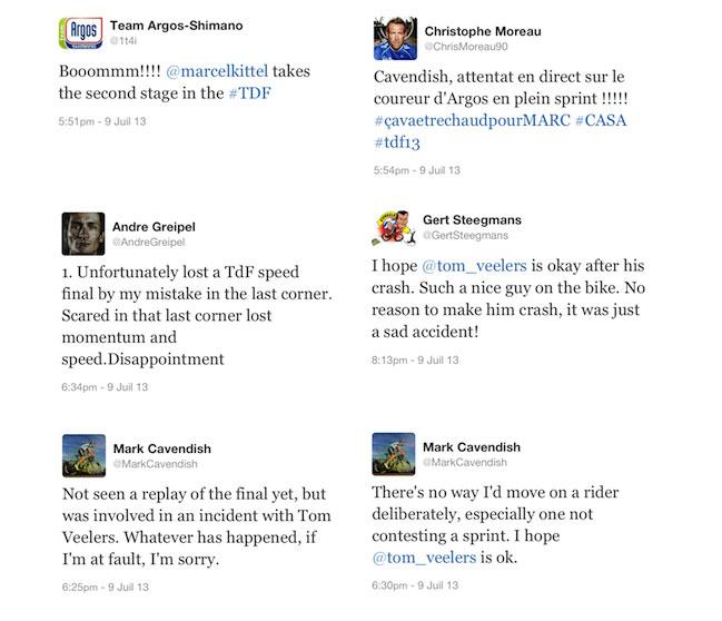 Les tweets du Tour de France 2013