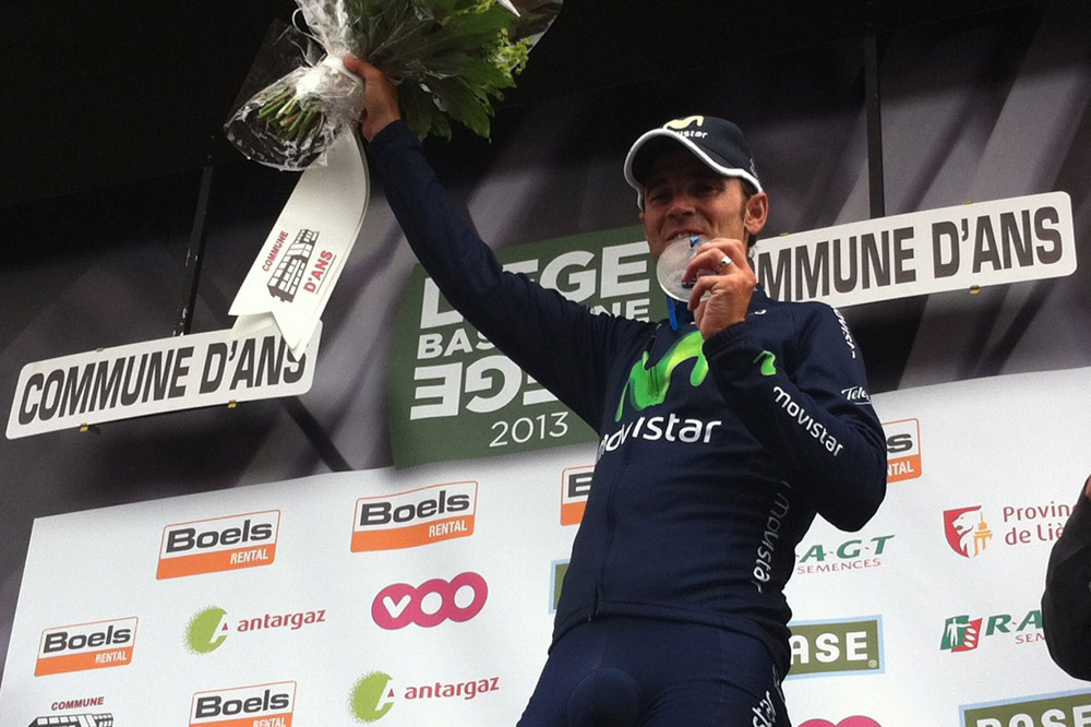 Alejandro Valverde sur le podium à Ans
