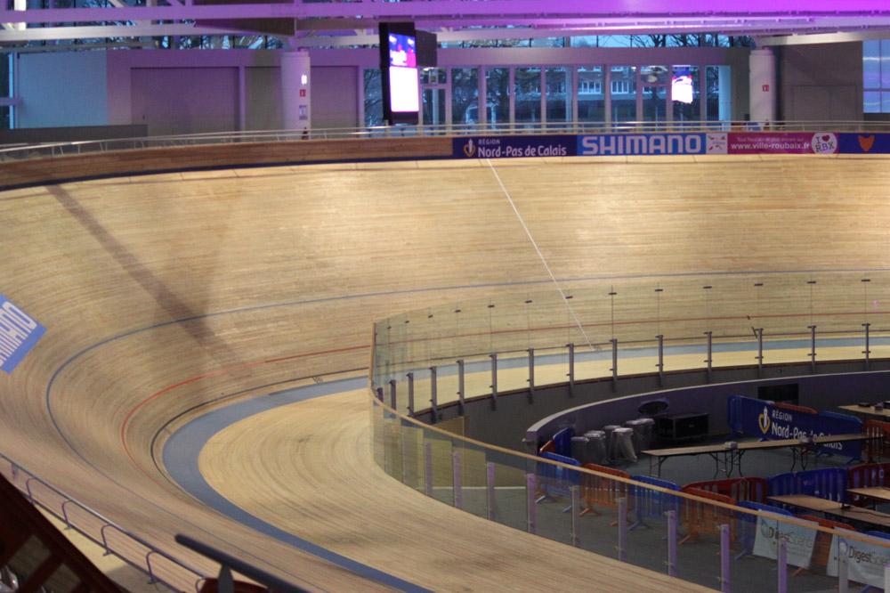 La piste du vélodrome couvert de Roubaix