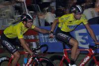 Les vice-champions du monde Torres-Muntaner en jaune