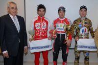 Le podium du Circuit Méditerranéen autour de Pierre-Henri Lecuisinier, Jimmy Turgis et Jérémy Leveau