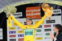 David Veilleux en jaune sur le Dauphiné