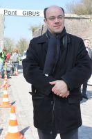 François Doulcier, président des Amis de Paris-Roubaix sur le secteur Pont-Gibus