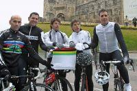 Igor Astarloa, Abraham Olano, Oscar Freire, Pedro Delgado et Miguel Indurain ont reconnu le circuit de Ponferrada