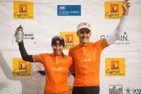 Blaza Klemencic et Jaroslav Kulhavy sur le podium de la Cyprus Sunshine Cup