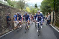 Anthony Roux, Thibaut Pinot et Romain Bardet en reco sur le circuit de Florence