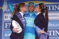 Vincenzo Nibali sur le podium
