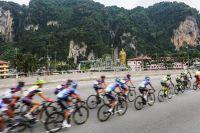 Le peloton du Tour de Langkawi