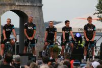 Richie Porte au centre du Team Sky