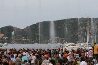 Des jets d'eau jaillissent de la Méditerranée