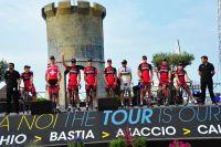 L'équipe BMC Racing Team au départ du Tour de France