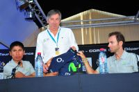 Nairo-Alexander Quintana, Eusebio Unzue et Alejandro Valverde