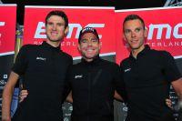 L'équipe BMC Racing Team autour de Tejay Van Garderen, Cadel Evans et Philippe Gilbert