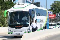 Le bus de l'équipe Orica-GreenEdge... le jour d'après