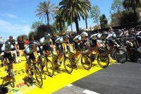 Les Omega Pharma-Quick Step au départ de Nice