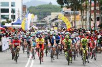Le peloton du Tour de Langkawi découvre un drôle de Maillot Jaune, Meiyin Wang