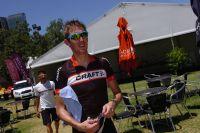 Andy Schleck profite du soleil