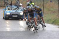 Le Team Saxo-Tinkoff dans le contre-la-montre par équipes